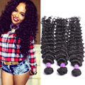 Cheap Cambodian Virgin Hair Deep Wave Human Hair Extensions Deep Curly Wave 3 Pcs/Lot Free Shipping Rosa Queen Hair Products