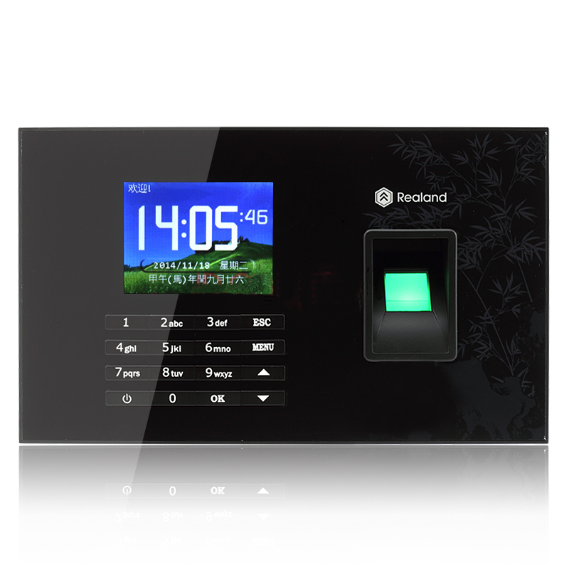 Realand A/C051 Support French Spanish Language Fingerprint Time Attendance With 125Khz EM Card Realand Fingerprint Time clock realand 2 8 inch tft biometric fingerprint attendance fingerprint time clock terminal with 125khz card