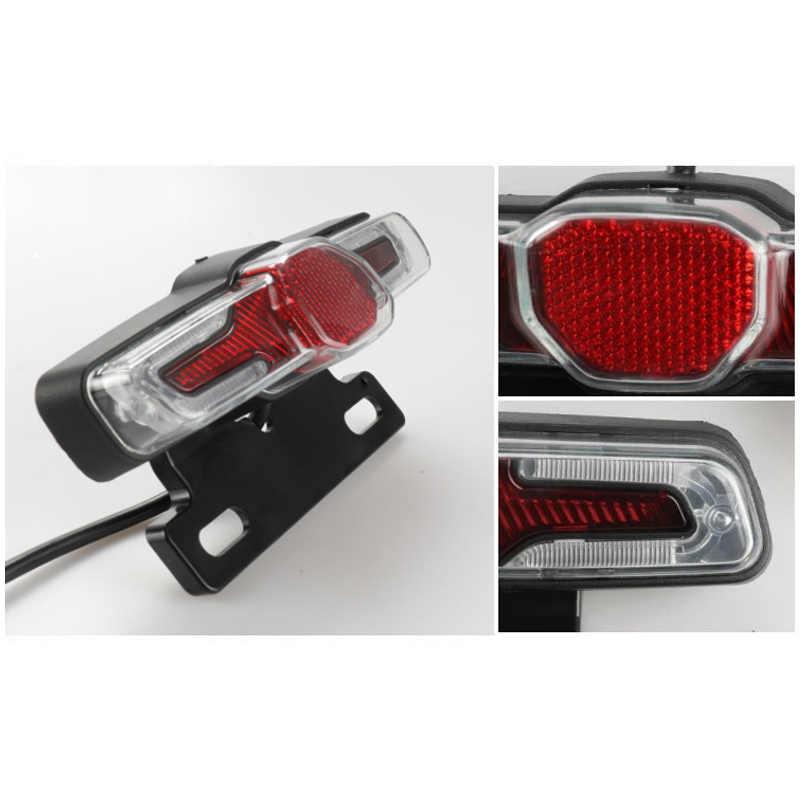 LED Taillight Indicator Brake Light 36V-48V for E-Bike Electric Bicycle YA88