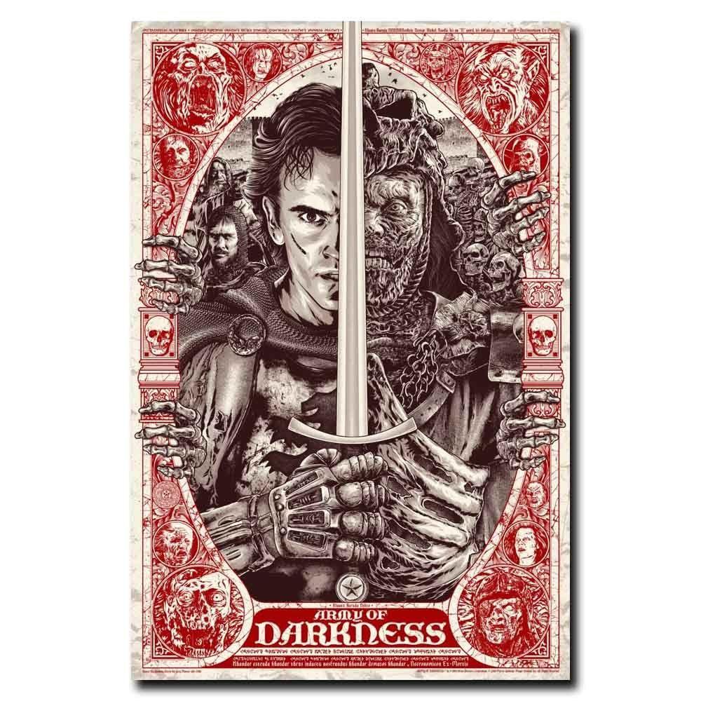 Army Of Darkness Classic Movie Art Silk Poster 12x18 24x36