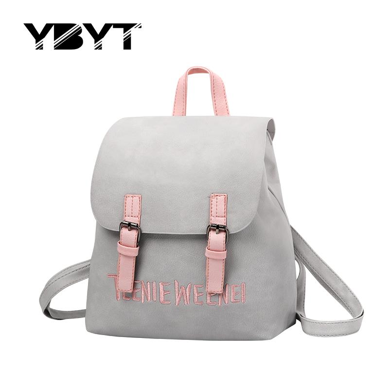 Prix pour YBYT marque 2017 nouveau preppy style sac à dos hotsale femmes joker shopping épaule lady bookbag voyage sac d'école des élèves à dos