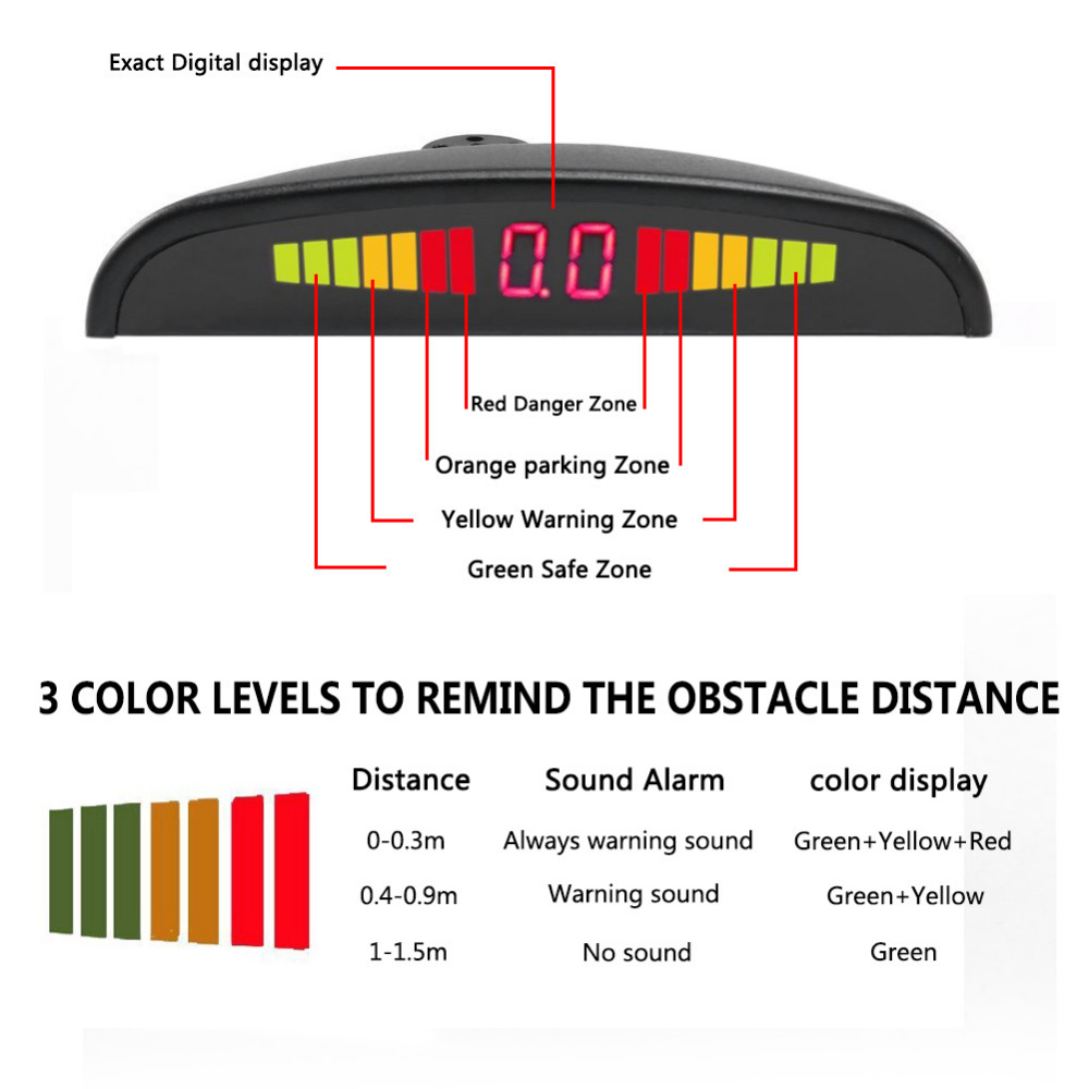 Toyota Sienna 2010-2018 Owners Manual: Sensor detection display, obstacle distance