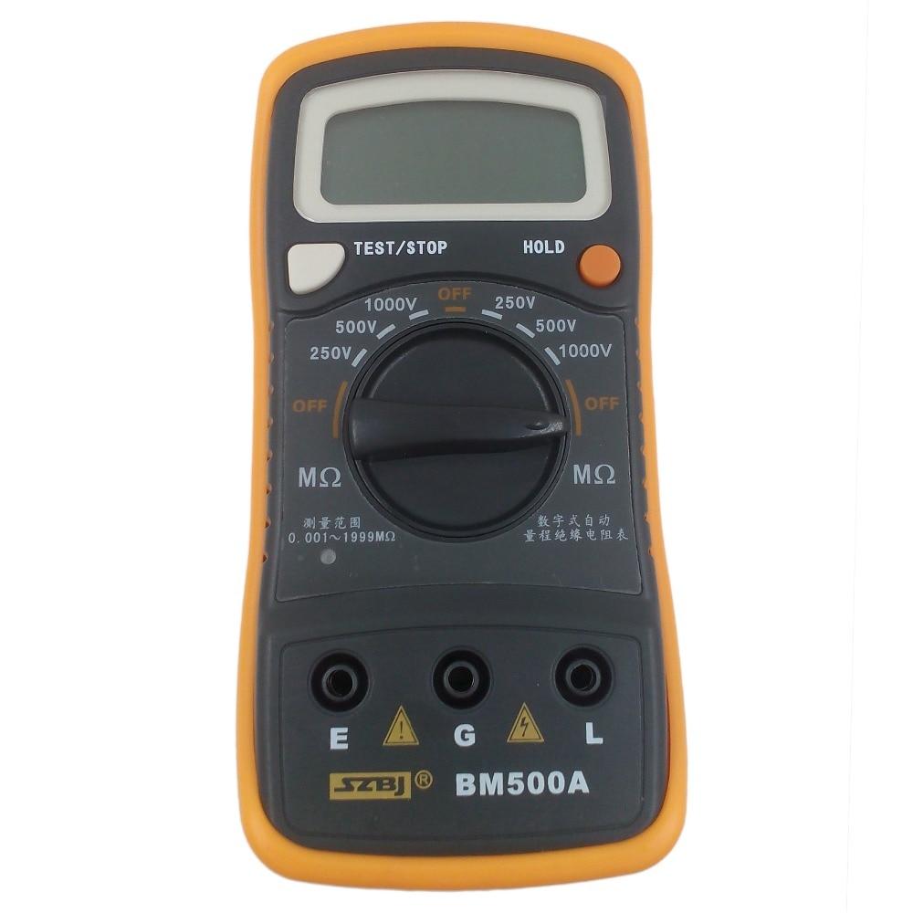 BM500A Digital Insulation Resistance Meter 1000V 1999M Resistance Tester Meter Megohmmeter Megger Multimeter mastech ms5203 high precision megger digital insulation resistance meter tester multimeter 10g 1000v medidor de aterramento