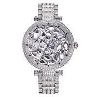 Davena Lady Wrist Watch Women's Hours Quartz Top Fashion Dress Bracelet Crystal Luxury Full Rhinestones Bling Girl Birthday Gift