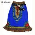 Новый Стиль Афро Печати Высокая Талия Прямая Юбка Женская Мода Традиционные Африканские Dashiki Юбки