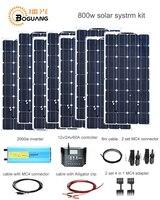 Boguang 800 Вт Солнечный комплект 8*100 Вт солнечные панели 2000 Вт инвертор 60A контроллер 4 в 1 адаптер MC4 разъем 12 В Мощность поколением