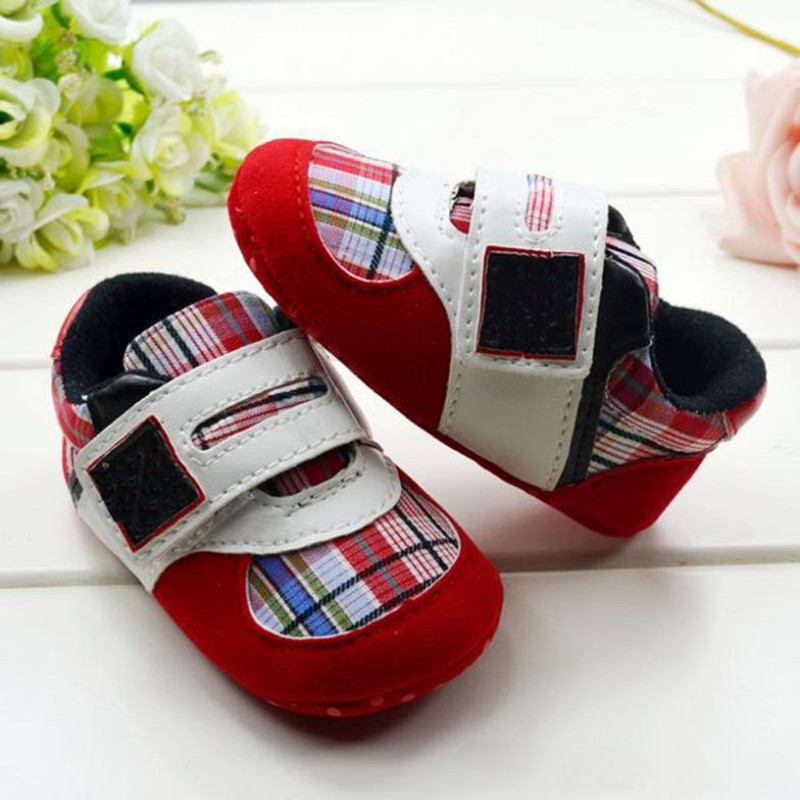 Infant-Toddler-Leather-Crib-Shoes-Lace-Up-Stripe-Sneaker-Baby-Prewalker-4