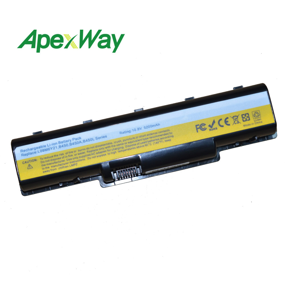 6 CELL 11.1V  4400mAh Laptop Battery  For Lenovo B450 L09S6Y21 L09M6Y21 B450L B450A