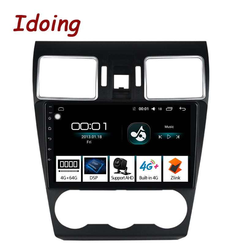 Idoing 9 Car Android8 1 Radio GPS Multimedia Player IPS 2 5D For Subaru Forester 2016