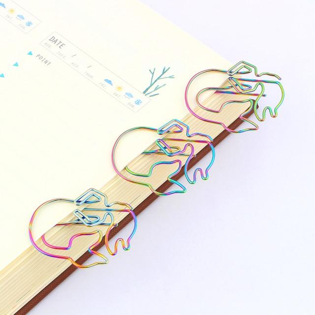 8 шт/лот красочные радужные скрепки русалки гальванические металлические фотография