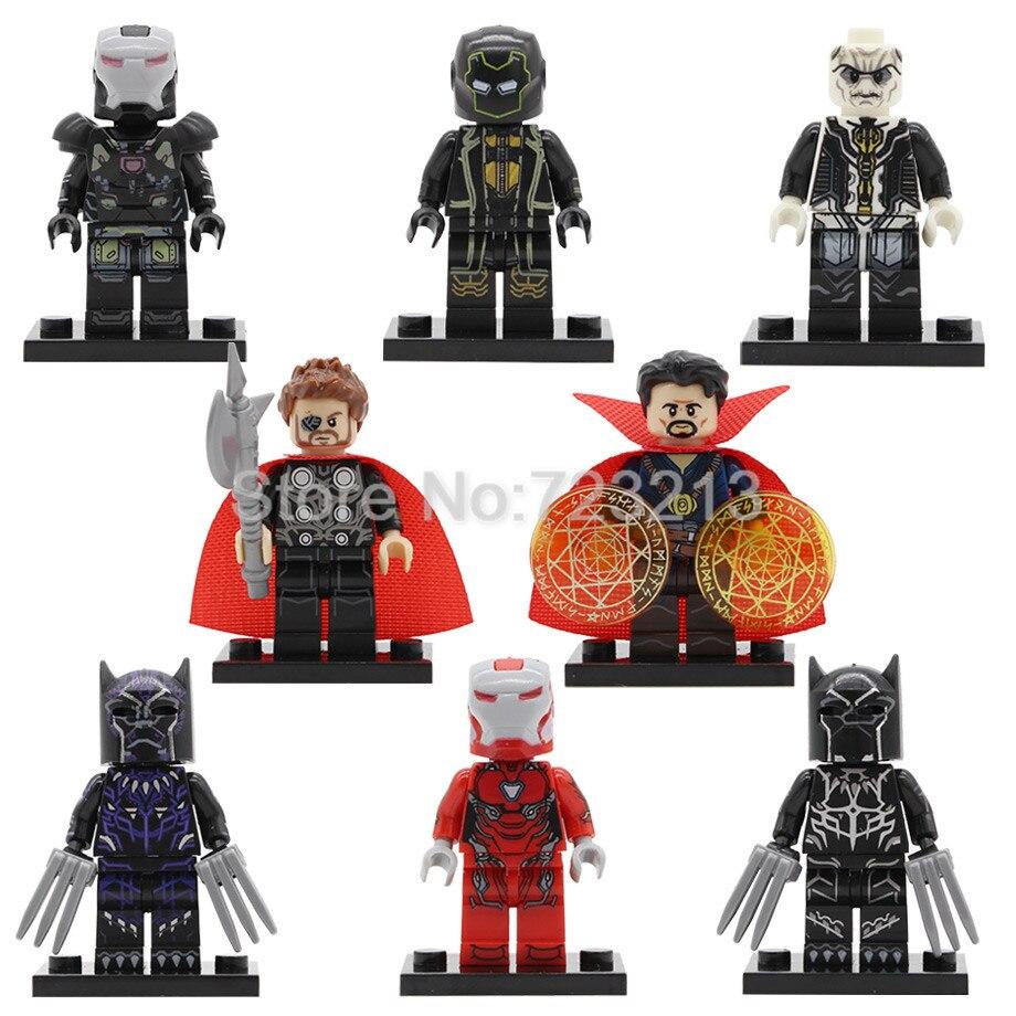 Super Hero Pepper Potts Ronin Ebony Maw Figure Doctor Strange Black Panther War Machine Building Blocks Sets Models Brick Toys