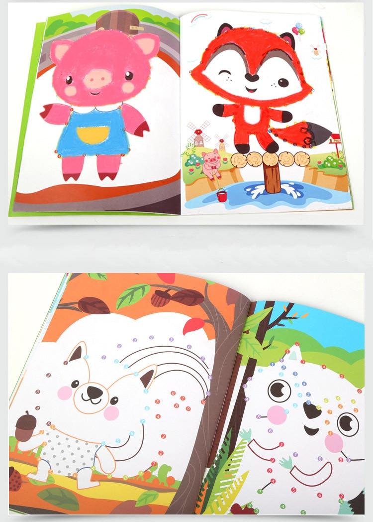 Punto a Punto de dibujo libros para colorear, aprender ABC y 123 en ...