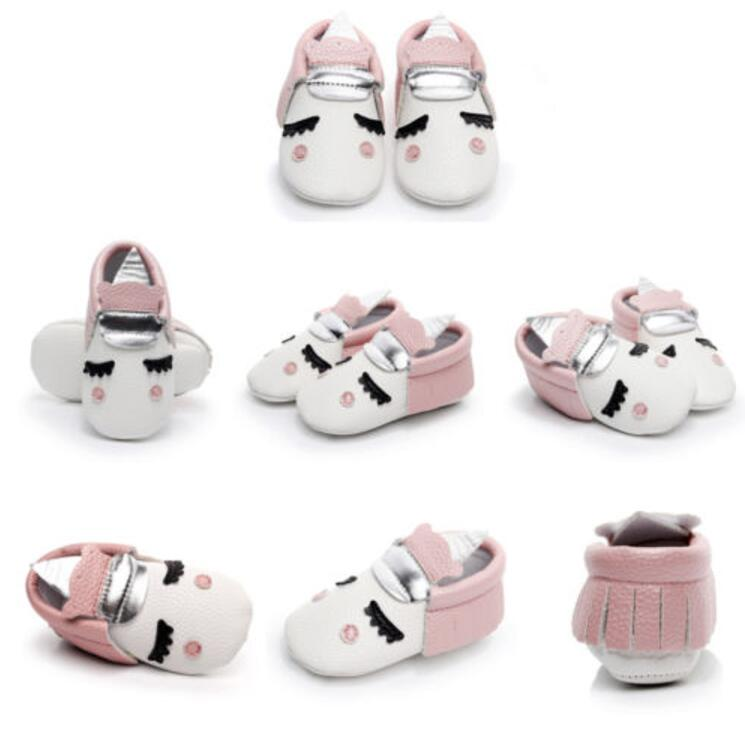 wholesale Unique style newborn leather baby moccasins toddler christmas gifts party shoes Blush golden angle Unicorn Baby boot
