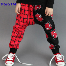 Autumn Spring Girls Fashion Pants Boy Clothes Spiderman Loose Pant Baby Boys Children Clothing Kids Cotton Trousers Sports 3-9y
