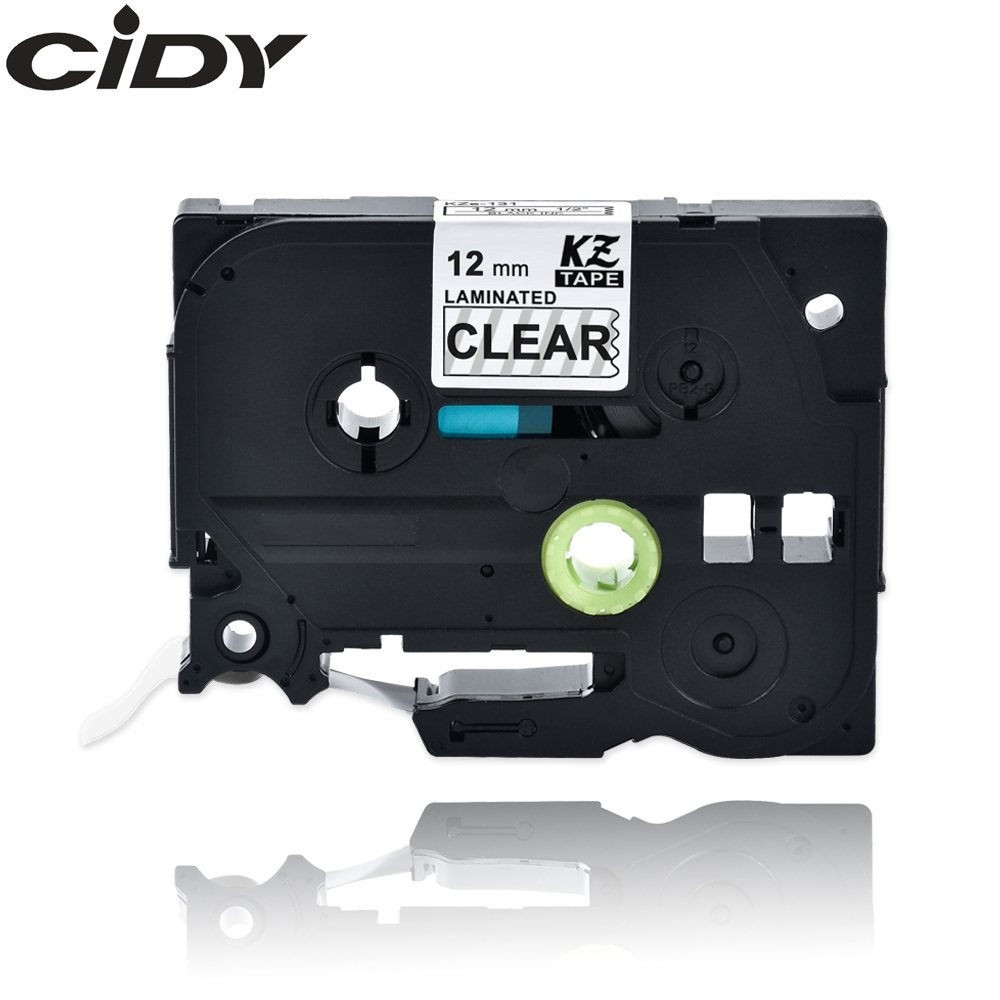 CIDY TZ131 TZ 131 TZe131 TZe 131 Laminated  Adhesive Tz-131 Tze-131 Labels Tape Black On Clear Compatible For Brother P Touch