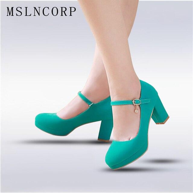 Большие размеры 34-43 Модные женские туфли мэри джейн женские туфли на высоком каблуке обувь для вечеринки, свадебные туфли туфли-лодочки на т...