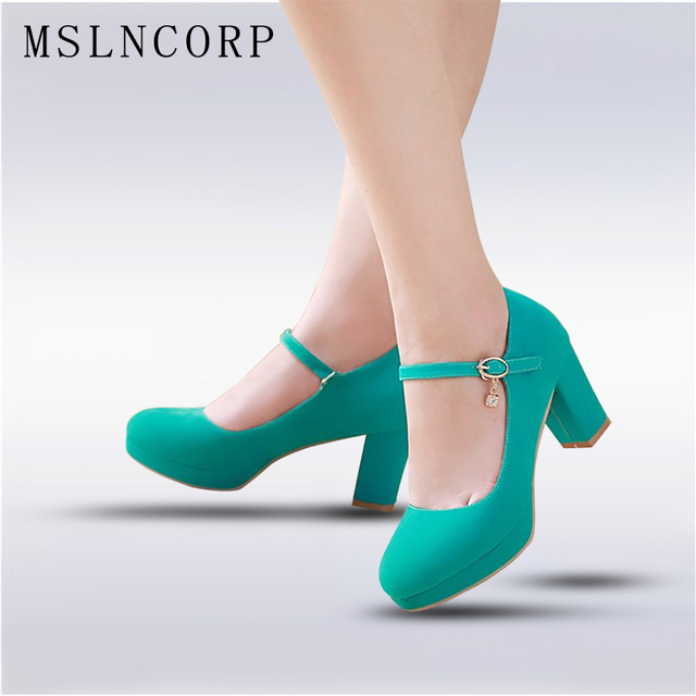plus size 34-43 Fashion Women Shoes Mary Jane Ladies High Heels Party  Wedding Shoes Thick Heel Pumps Lady Footwear Casual Shoes a7d0e1b3d41e