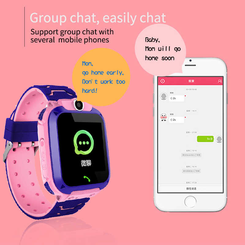 2019 ใหม่กันน้ำเด็ก smartwatch SOS Emergency Call ปอนด์ Security ติดตามตำแหน่งเด็กดิจิตอลนาฬิกา