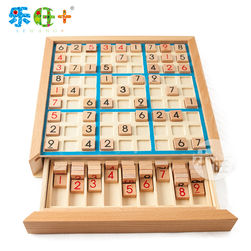 Children's Wooden Sudoku Chess puzzle toy game board adult logical thinking kids educational toys gifts for teen image