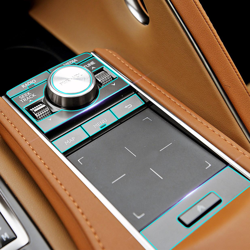 Anti Scratch Clear Transparence Film Car Interior Central Console Dashboard Panel Protective Sticker for Lexus LC 500 500h 2018