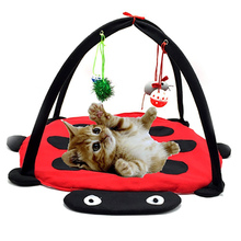 Cats Beds Foldable Pet Cats Hammock Soft Cotton Breathable Tent Kitten Playing Toys SDF-SHIP kitty bed toys cats mobile activity playing tent leopard zebra mat