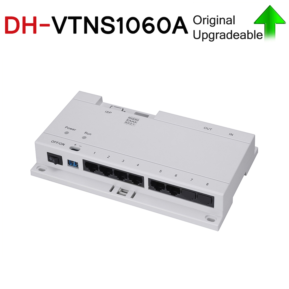 DH VTNS1060A With Logo Original Video Intercom POE Switch For IP System VTO2000A Connect Max 6 Indoor Monitors With Cat 5e Cable
