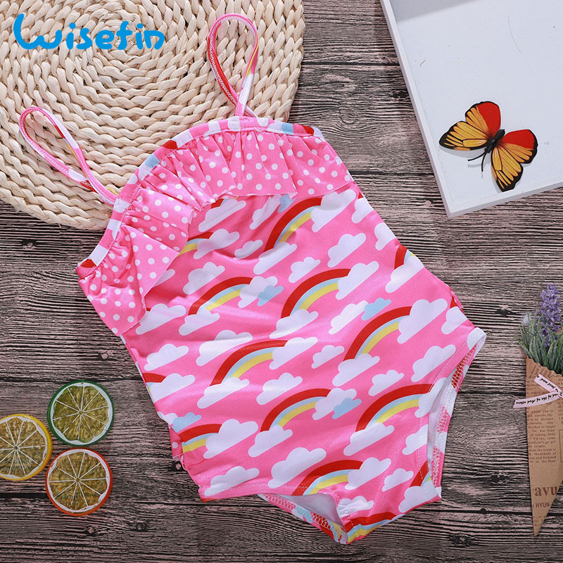 e79b55a5fae72 Wisefin Toddler Girl Swimwear Cloud Baby Bathing Suit One Piece Pink Kids  Swimsuit Girls Rainbow Baby Swim Suit Kids Swimwear-in Swimwear from Mother  & Kids ...