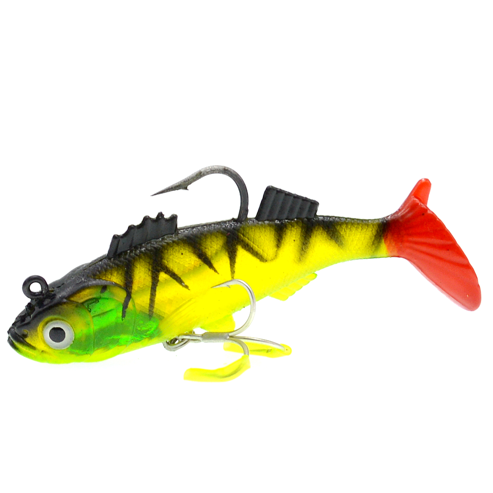 Image 4 - WLDSLURE 1Pcs 11.5cm/37g Artificial Fishing Soft Lures Sharp Hook lead Fishing Lure Lead Head Silicone Bait Fishing Tackle Lure-in Fishing Lures from Sports & Entertainment