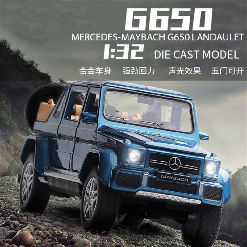 1:32 Toy Car Maybach Benz G650 Metal Toy Alloy Car Diecasts & Toy Vehicles Car Model Miniature Scale Model Car Toys For Children