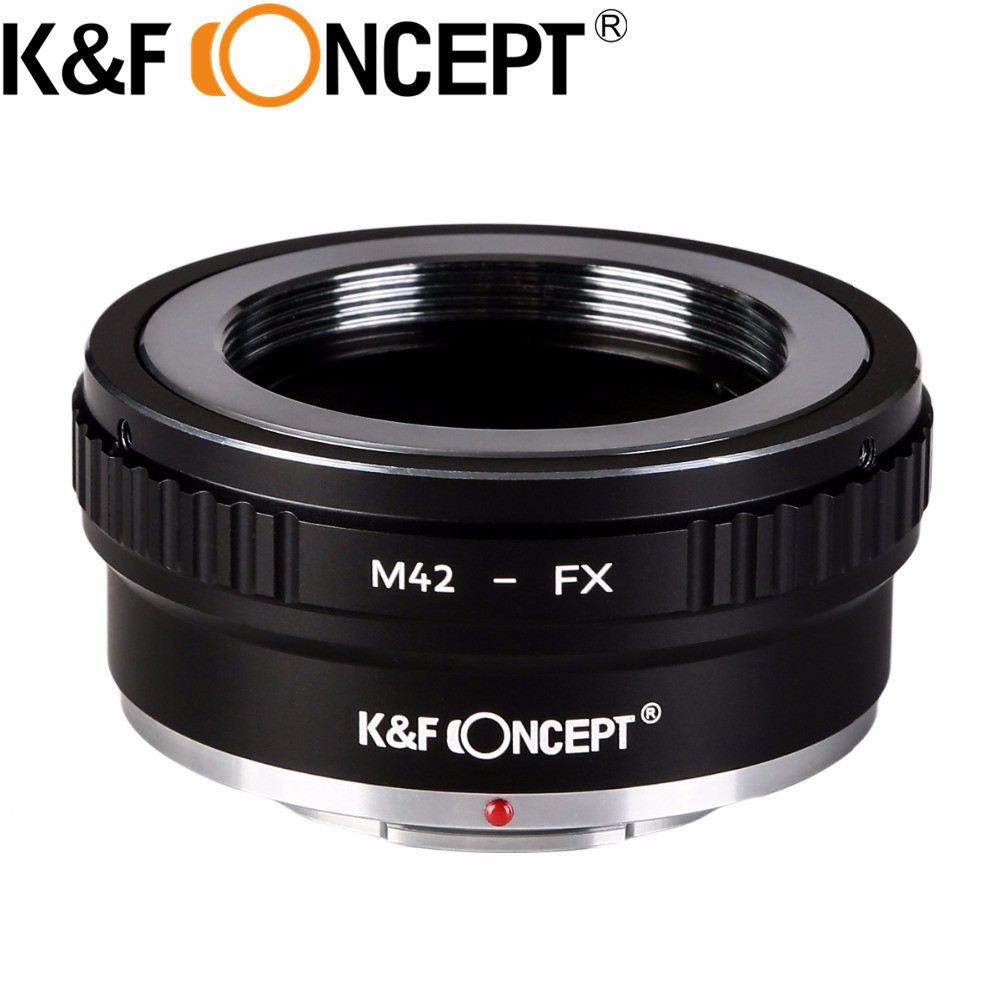 K&F CONCEPT M42-FX High-precision Lens Mount Adapter Lens Ring for M42 Screw Mount Lens to Fujifilm Microless Camera Body