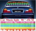 90cm x 25cm Sound Music Activated EL Sheet Car Stickers Equalizer Glow Flash Panel led Multi Color Decorative Light Accessories