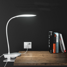 цена на Finether Touch Sensor Dimmable Clamp Folding LED Desk Table Lamp Small clip lamp for Reading Study Bedroom Office LED Desk lamp