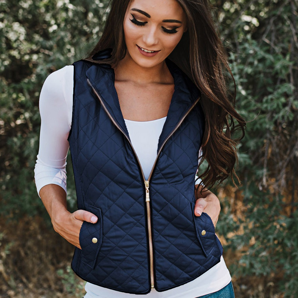 New Women Vests Winter Ultra Light White Vest Female Slim Sleeveless Jacket Women's Windproof Warm Waistcoat