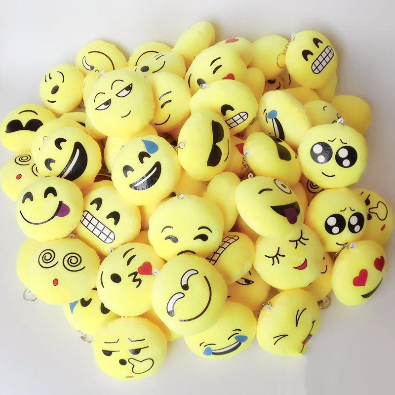 Plush Backpacks Toys & Hobbies 50pcs High Quality Emojis Emoticon Smile Kids Plush Toys Keyring Bag Hang Plush Toy Kids Childrens Party Gift Keychain Pendant Ample Supply And Prompt Delivery