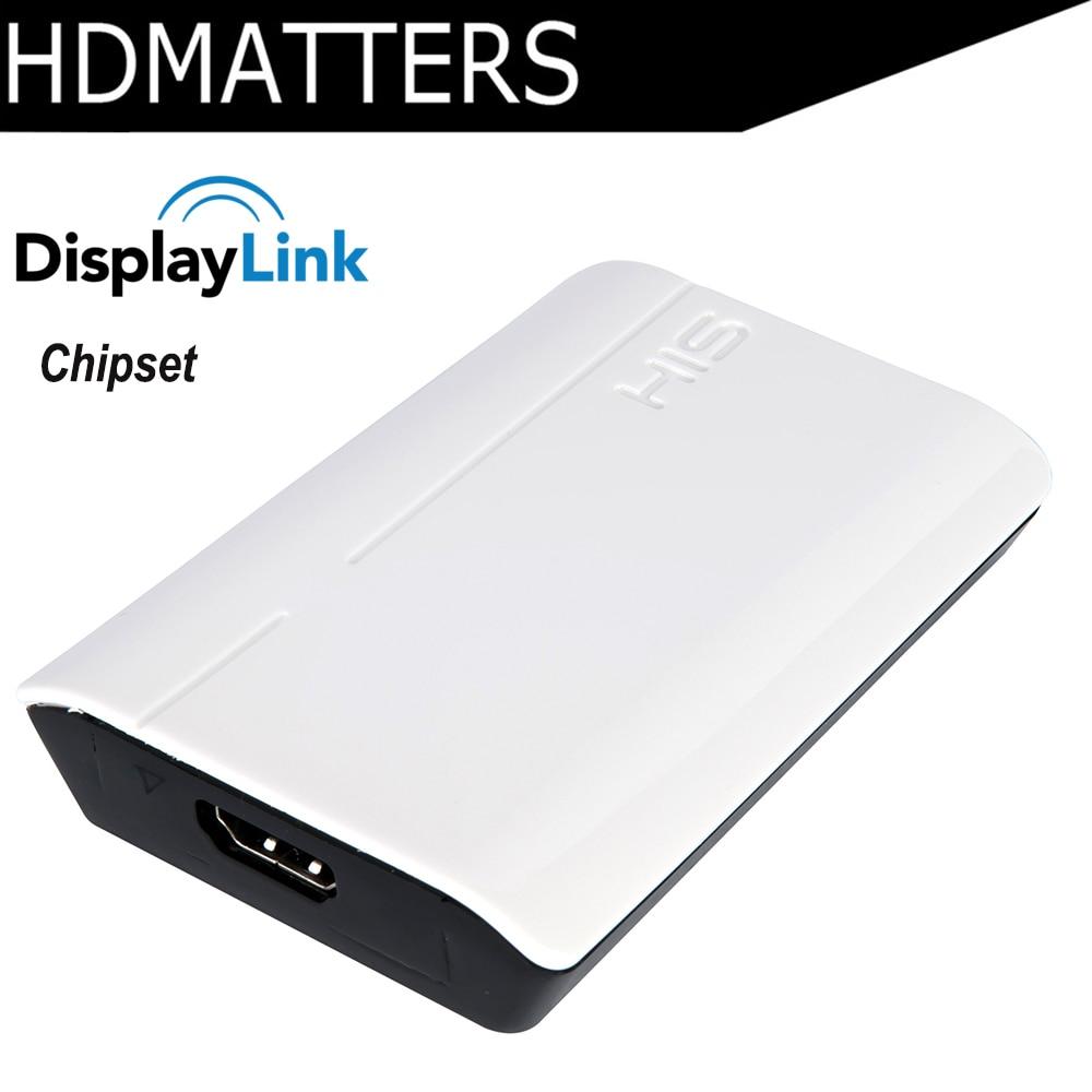1080 P USB 3.0 para HDMI conversor de áudio & vídeo Displaylink Chipset para win10/win8/win7/apple macbook pro air