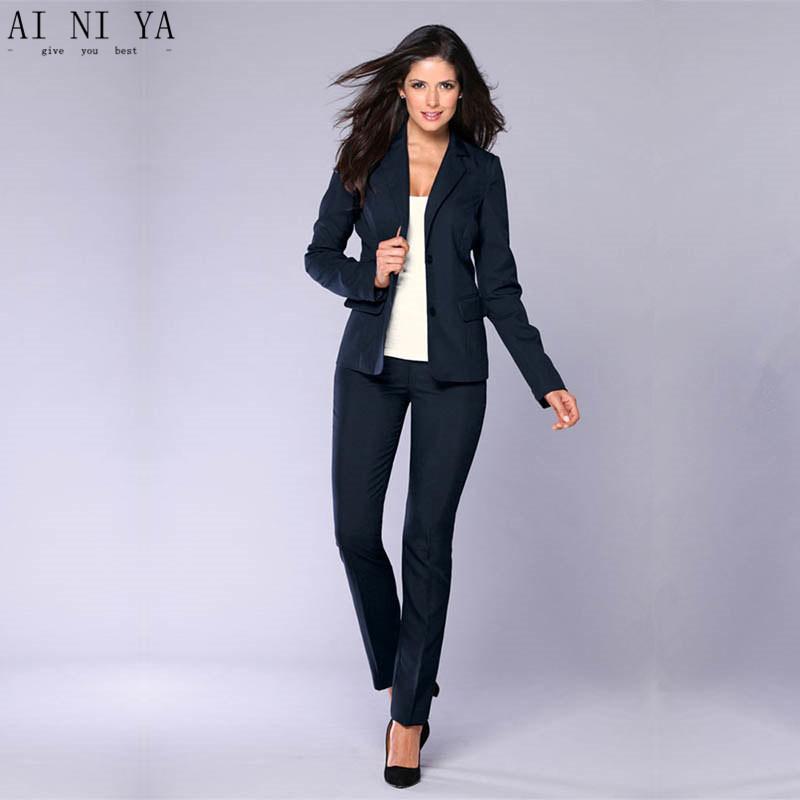 Jacket+Pants Black Women Business Suits Formal Office Suits Work Female Trouser Suit Single Breasted 2 Piece Set Custom Made A2