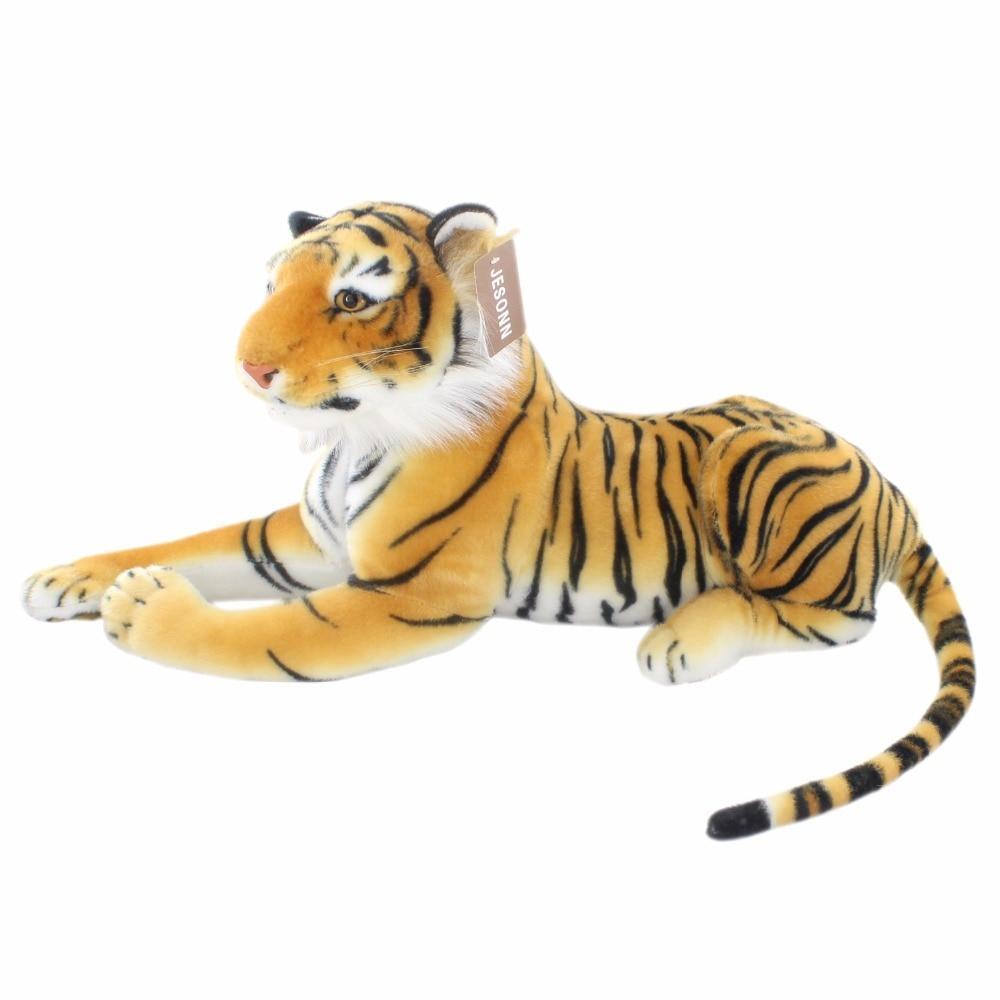 JESONN reális plüss játékok Tiger Lifelike töltött állatok gyermek születésnapi ajándékok