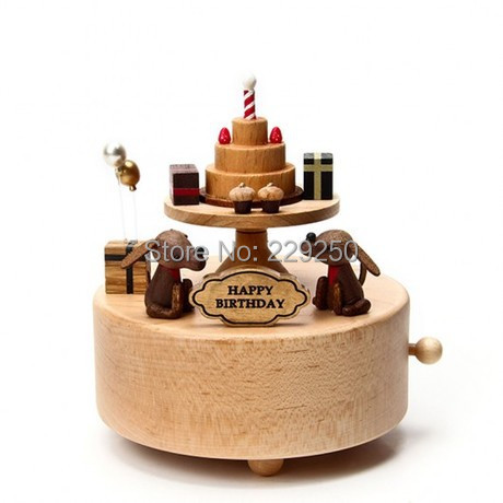 Wooden Music Box Birthday Cake Dog Valentines Day Gift Ideas In Boxes From Home Garden On Aliexpress