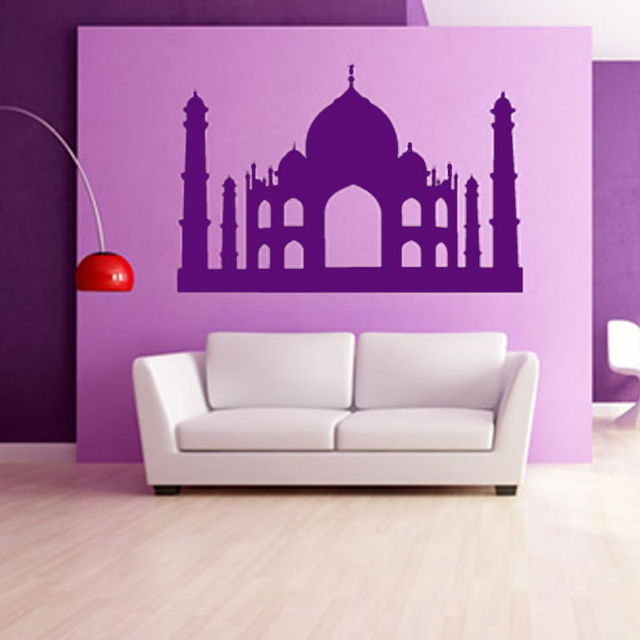 Pvc Waterproof Ic Muslim Grand Masjid Wall Sticker Living Room Personalized Colors Home Decor Accessories