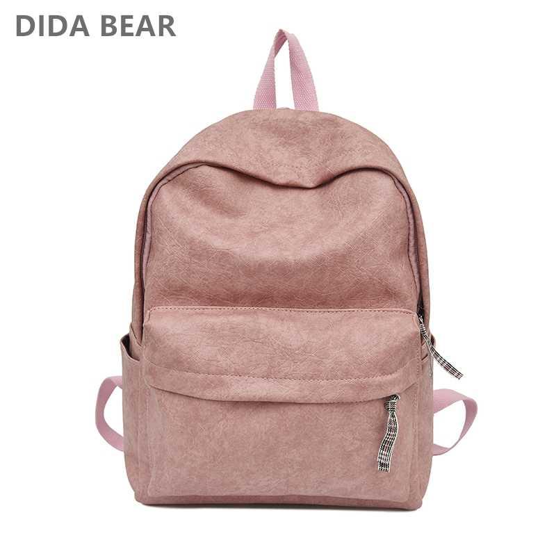 5240233245 DIDABEAR Fashion Leather Shoulder Bag Women Backpack School Backpacks For  Teenage Girls Female Rucksack Bolsas Mochilas