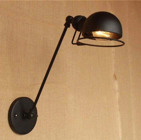 IWHD 30CM Swing Long Arm Vintage Wall Lamp <font><b>LED</b></font> In Style Loft Industrial Wall Sconce Edison Stair Light Arandela <font><b>Aplik</b></font>