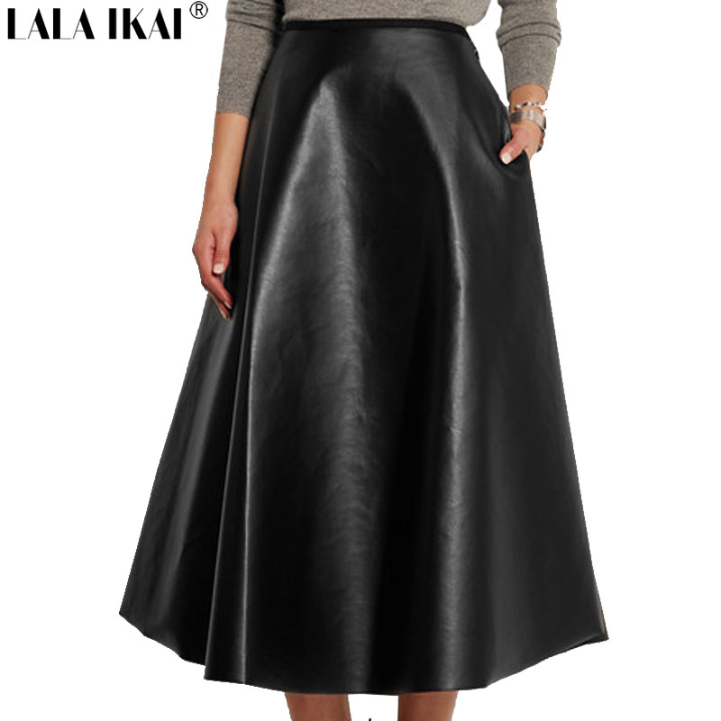 Black leather skirt with pockets – Modern skirts blog for you