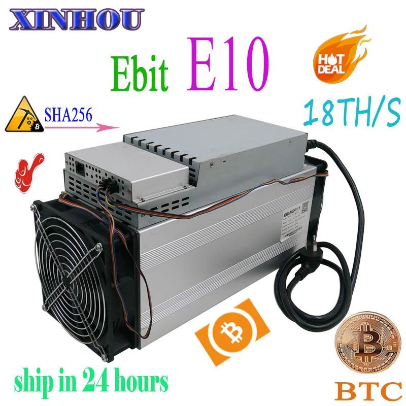 Used Asic miner Ebit E10 18T SHA256 Bitecoin BCH BTC Miner Better than antminer S9 S11 S15 WhatsMiner M3X M10 Innosilicon T2T T3
