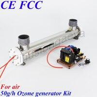 Pinuslongaeva 50G/H 50grams adjustable Quartz tube type ozone generator Kit Aquaculture sterilization oxygenation Aeration