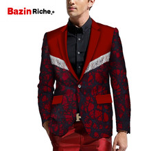 2019 Fashion New African Men Blazer Slim Fit Fancy Blazers Suit Print Jacket Tops Coat Mens Clothing WYN819