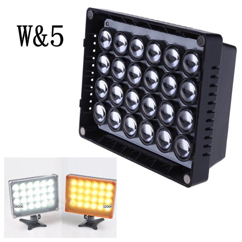 Wansen W24 LED 2200Lux 5600K3200K lampada video dimmerabile per Canon - Macchina fotografica e foto