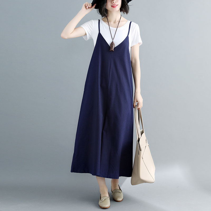 Cotton And Linen Overalls   Pants   Women Summer Korean Loose Plus Size   Wide     Leg     Pants   Casual Ankle-Length Female Overalls Trousers