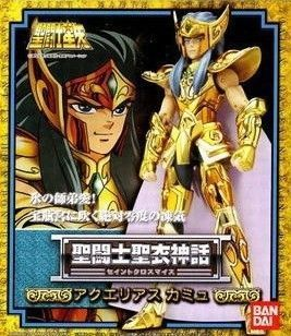 Bandai Japanese version of Saint Seiya 1.0 Old version Gold Saint Aquarius Camus metal myth the little old lady in saint tropez