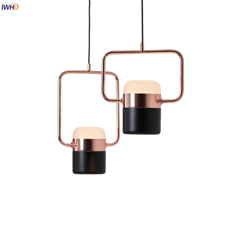 IWHD Nordic Modern Pendant Lights Fixtures Dinning Living Room Light Black White Hanging Lamp Hanglamp Lamparas Colgantes LED colorful nordic led pendant lights modern simple pendant lamp creative hanglamp fixtures for home lightings lamparas colgantes