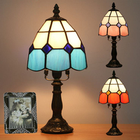 Tiffanylamp Classic E14 Multi Color Tiffany style Bedroom Living room Church Glass Table Lamp High quality FREE SHIPPING